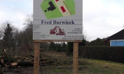 Bauschild Fred Burwieck