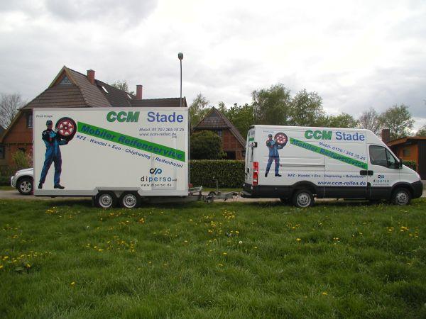 CCM Fahrzeug und Anhängerbeschriftung mehrfarbig mit Digitaldruck