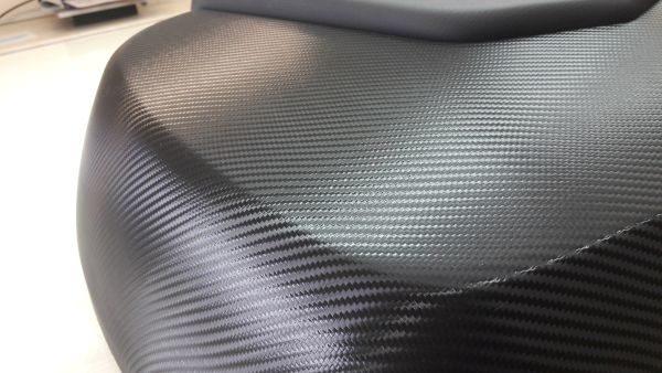 Detailansicht Motoradteil Carbonfolie