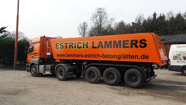 Aufliegerbeschriftung LKW Estrich Lammers
