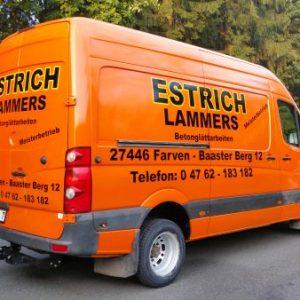 Estrich Lammers Sprinterbeschriftung