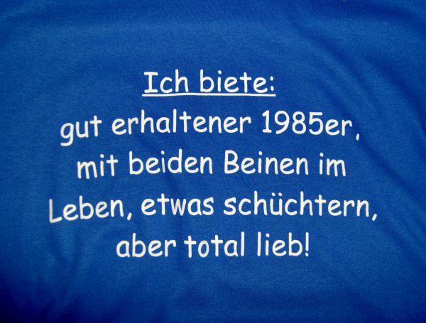Jungeselle Shirt Blau mit weißer schrift flex druck