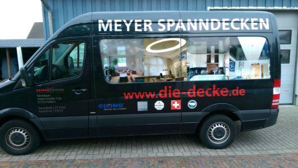 Meyer Spanndecken Transporter beschriftung mit Digitaldruck