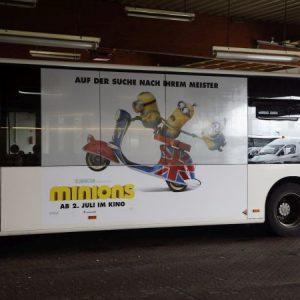 Minions Kino Werbung Roller lustig