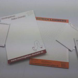 Schreibblöcke in verschiedenen größen
