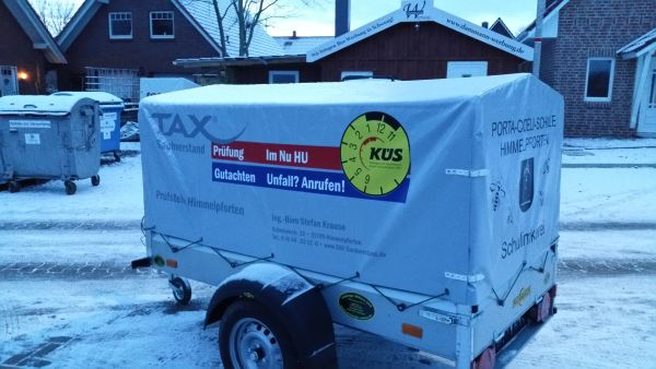 Sponsoren Anhänger Tax Küs Sachverstand KFZ TÜV und AU
