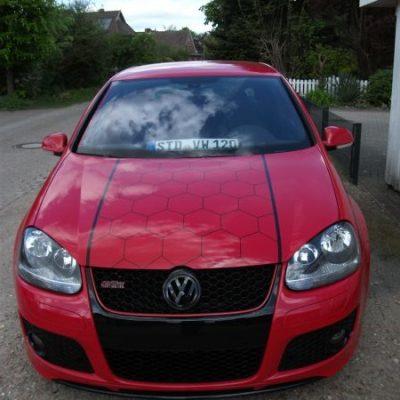 VW GTI Waben Folierung für Tuner